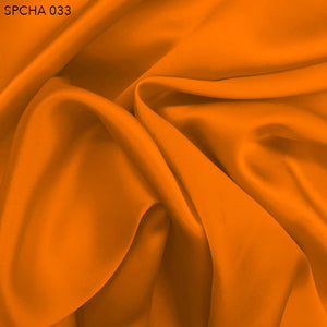 Silk Charmeuse - Citrus Orange - Fabrics & Fabrics
