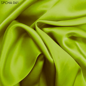 Silk Charmeuse - Acid Lime - Fabrics & Fabrics