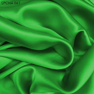 Bright Green Silk Charmeuse - Fabrics & Fabrics