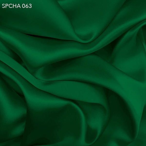 Hunter Green Silk Charmeuse - Fabrics & Fabrics