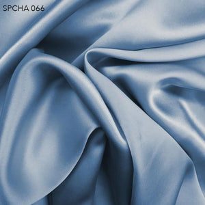 Sporty Blue Silk Charmeuse - Fabrics & Fabrics