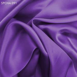 Purple Flower Silk Charmeuse - Fabrics & Fabrics