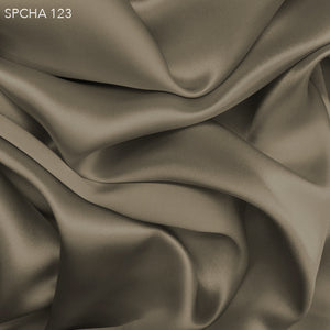 Silk Charmeuse - Khaki Brown - Fabrics & Fabrics