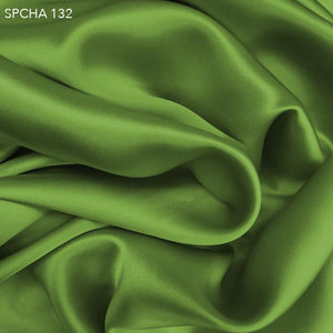 Pickle Green Silk Charmeuse - Fabrics & Fabrics