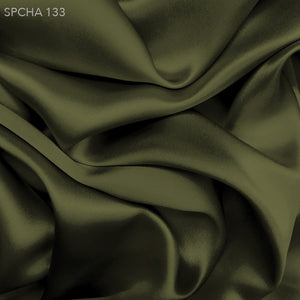 Silk Charmeuse - Olive Green