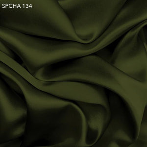 Pesto Green Silk Charmeuse - Fabrics & Fabrics