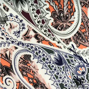 Paisley Printed Silk Charmeuse - Multicolor