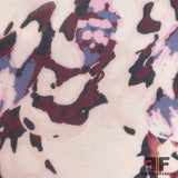 Abstract Floral Printed Silk Chiffon - Light Pink - Fabrics & Fabrics NY