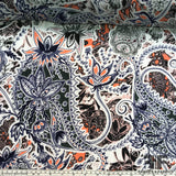 Paisley Printed Silk Georgette - Multicolor