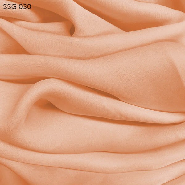 Silk Georgette - Nude Orange