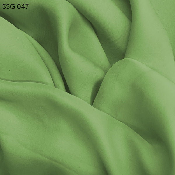 Silk Georgette - Patina Green - Fabrics & Fabrics