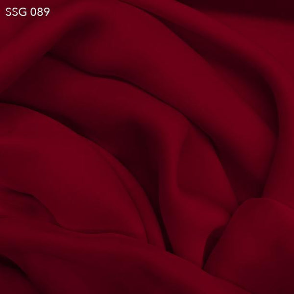 Red Silk Georgette - Fabrics & Fabrics