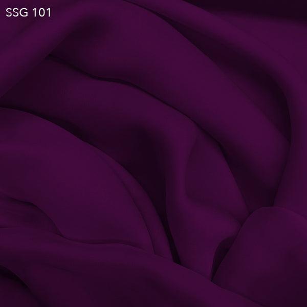 Silk Georgette - Electric Purple - Fabrics & Fabrics