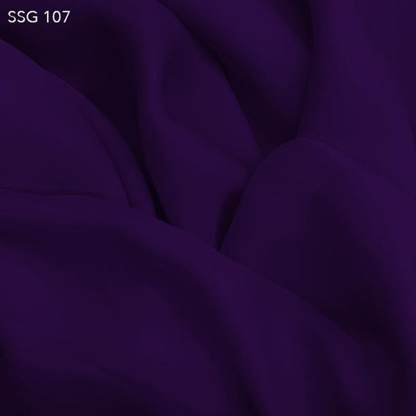 Royal Purple Silk Georgette - Fabrics & Fabrics
