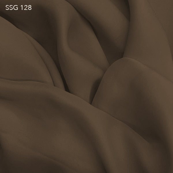 Silk Georgette - Chocolate Powder - Fabrics & Fabrics