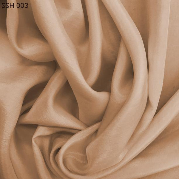 Brown Silk Habotai (China Silk)  - Fabrics & Fabrics