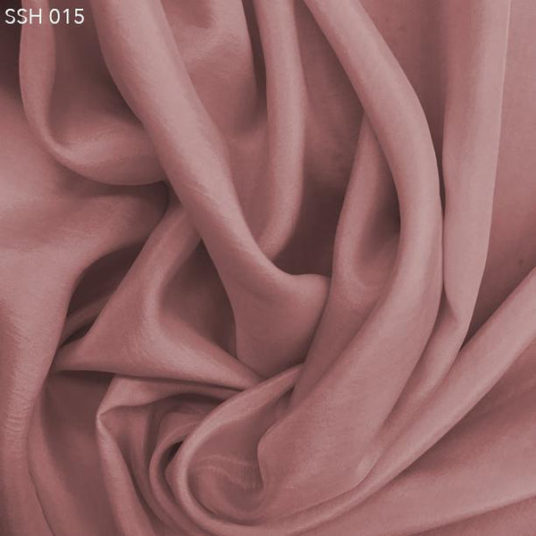 Mellow Rose Pink Silk Habotai (China Silk) - Fabrics & Fabrics
