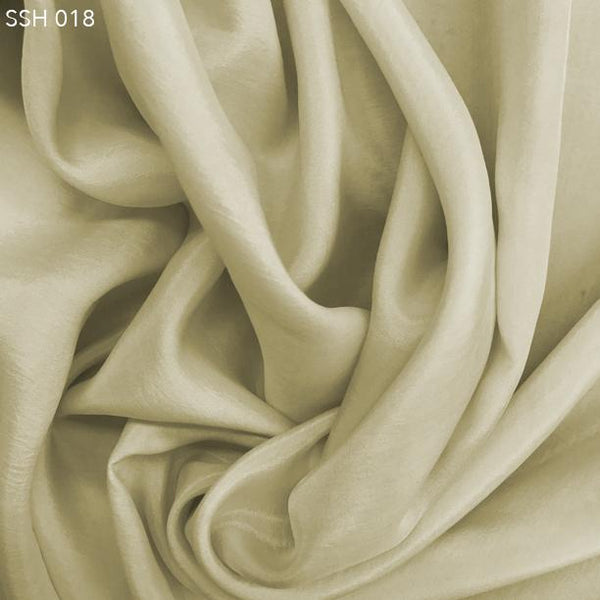Dove White Silk Habotai (China Silk)  - Fabrics & Fabrics