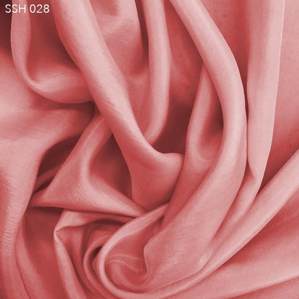 Misty Pink Silk Habotai (China Silk) - Fabrics & Fabrics