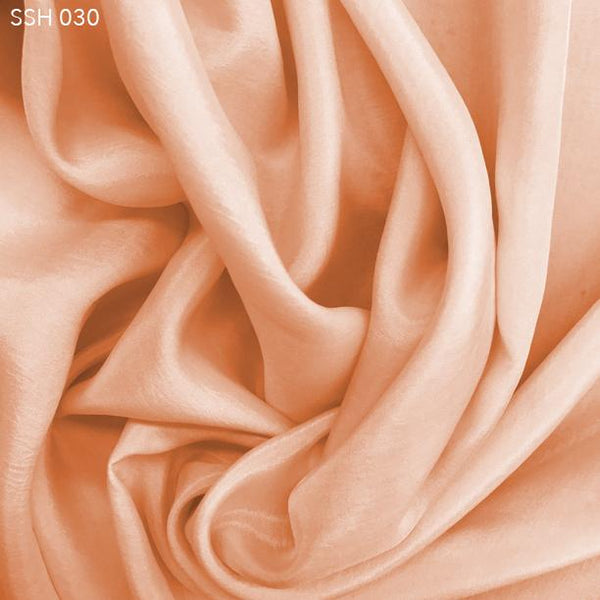 Orange Silk Habotai (China Silk) - Fabrics & Fabrics