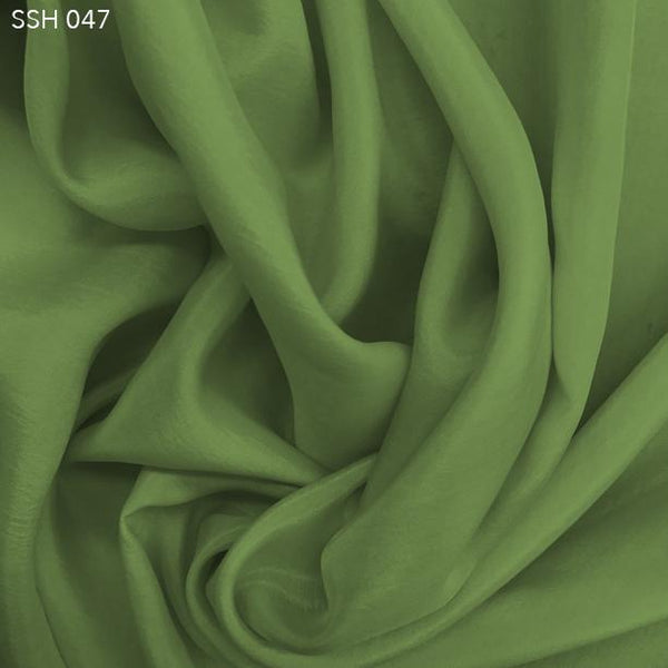 Patina Green Silk Habotai (China Silk) - Fabrics & Fabrics