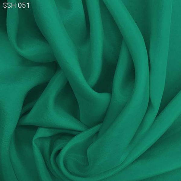 Light Teal Silk Habotai (China Silk) - Fabrics & Fabrics