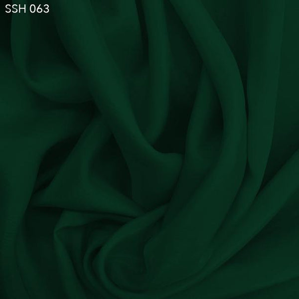 Hunter Green Silk Habotai (China Silk) - Fabrics & Fabrics