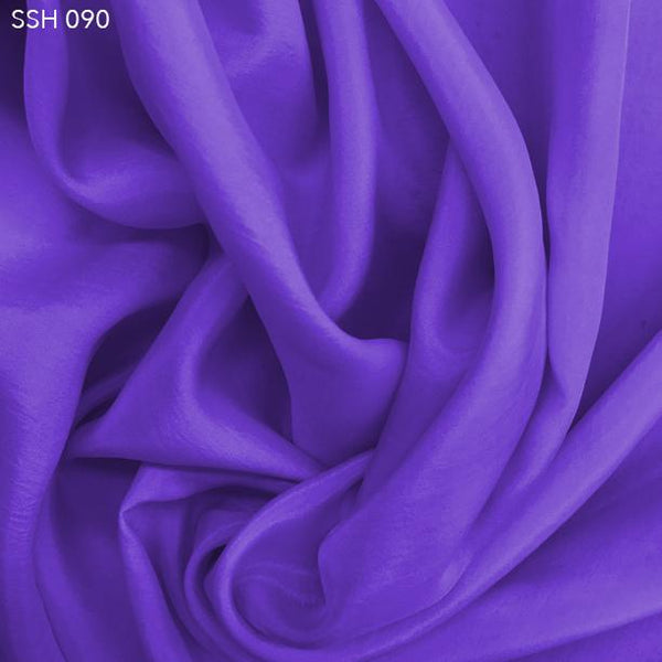 Glory Blue Silk Habotai (China Silk) - Fabrics & Fabrics