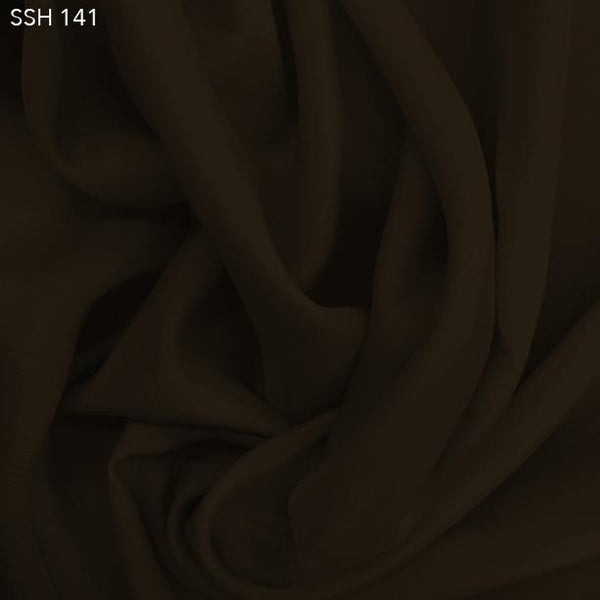 Espresso Brown Silk Habotai (China Silk)  - Fabrics & Fabrics