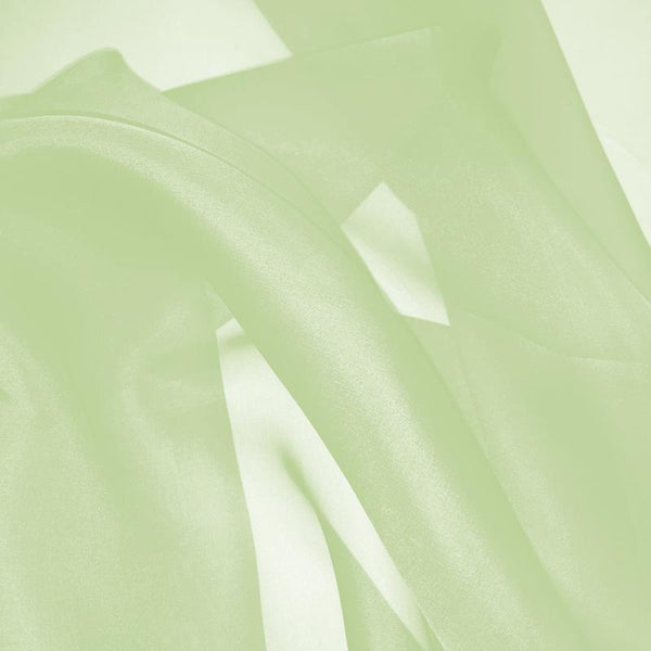 Lime Cream (Green) Silk Organza fabric - Fabrics & Fabrics