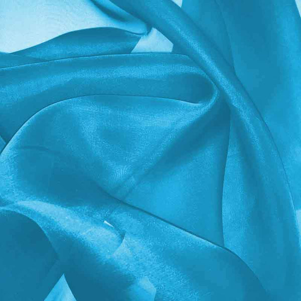 Electric Blue Silk Organza fabric - Fabrics & Fabrics