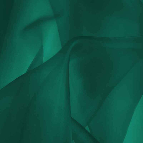Deep Teal Green Silk Organza fabric - Fabrics & Fabrics