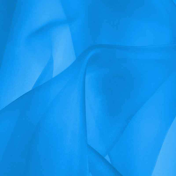 Dynamic Blue Silk Organza fabric - Fabrics & Fabrics
