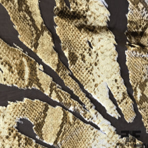 Snakeskin Burnout Velvet - Brown/Tan