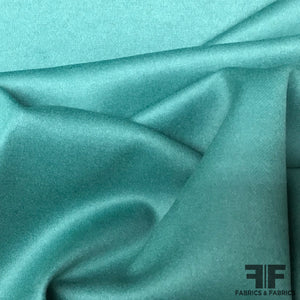 Double Faced Wool Coating - Jade