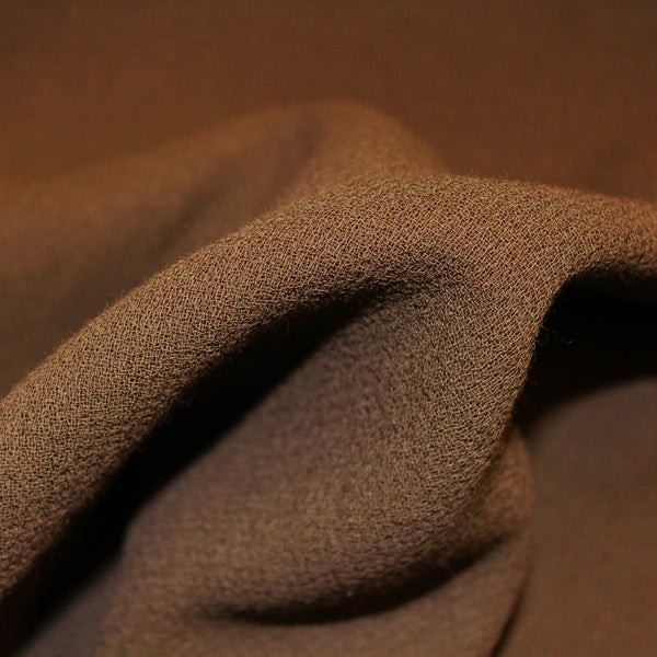 Double-Faced Wool Crepe - Dark Green
