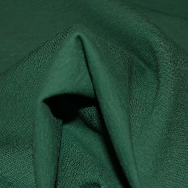 Wool Blend Knit - Deep Green/Teal - Fabrics & Fabrics