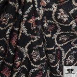 Abstract Floral Wool Printed - Charcoal/Multicolor