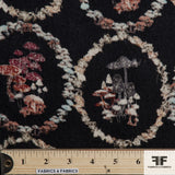 Abstract Floral Wool Printed - Charcoal/Multicolor - Fabrics & Fabrics NY