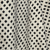 Designer Checkered Silk Wool Blend - Off White/Black - Fabrics & Fabrics NY