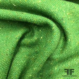 Italian Wool Suiting - Speckled Green - Fabrics & Fabrics