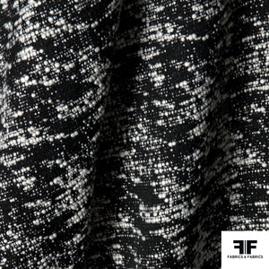 Wool Boucle - Black & White - Fabrics & Fabrics