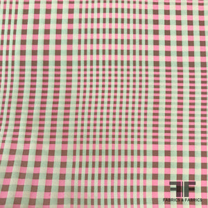 Yarn Dyed Silk Plaid - Pink - Fabrics & Fabrics