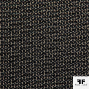 Cotton Blend Suiting - Black/Brown - Fabrics & Fabrics NY