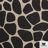 Giraffe Animal Printed Wool - Dark Brown/Taupe