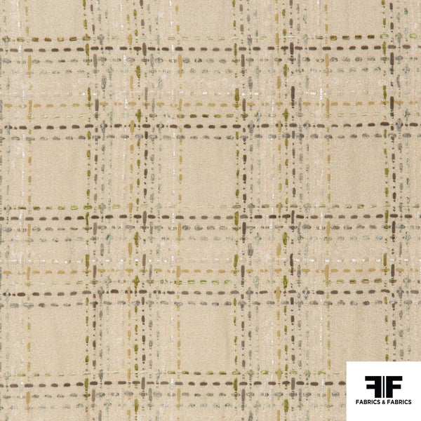 Plaid Wool Blend - Pale Yellow