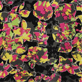Graphic Floral Printed Silk Crepe - Multicolor