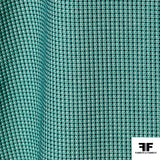 Textured Cotton Suiting - Green/Blue/White