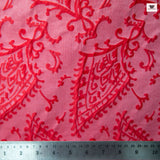 Abstract Paisley Woven Brocade - Pink/Red - Fabrics & Fabrics NY