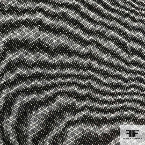 Checkered Cotton Tulle - Grey/White - Fabrics & Fabrics NY